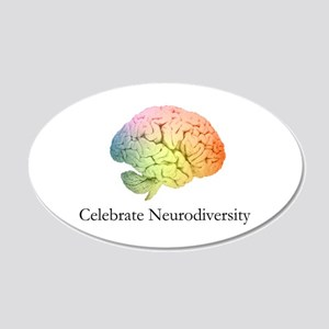 Celebrate Neurodiversity 20x12 Oval Wall Decal