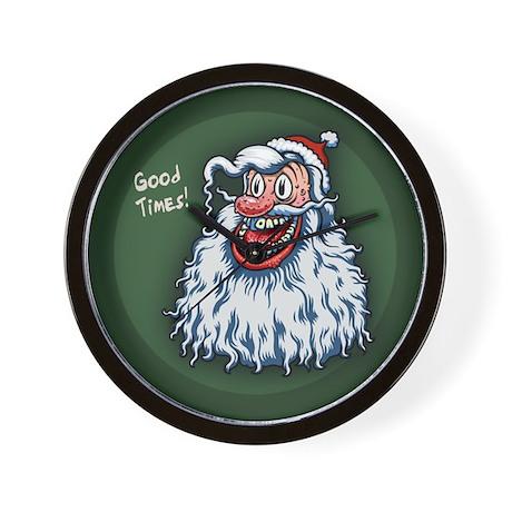 Santa Good Times Wall Clock