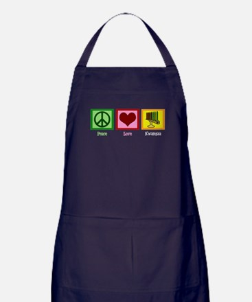 Peace Love Kwanzaa Apron (dark)