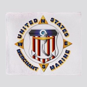 Emblem - US Merchant Marine Throw Blanket