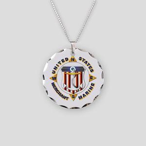 Emblem - US Merchant Marine Necklace Circle Charm