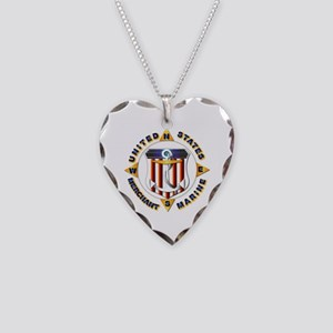 Emblem - US Merchant Marine Necklace Heart Charm