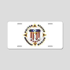 Emblem - US Merchant Marine Aluminum License Plate