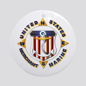 Emblem - US Merchant Marine Ornament (Round)