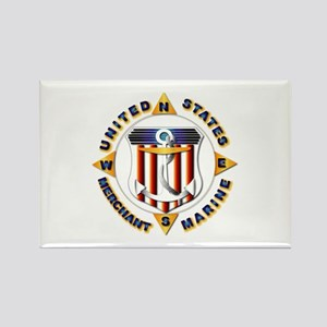 Emblem - US Merchant Marine Rectangle Magnet