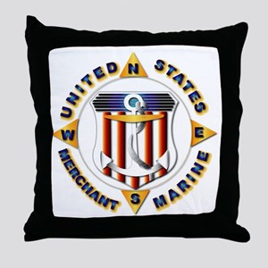 Emblem - US Merchant Marine Throw Pillow