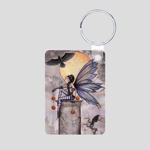Autumn Raven Aluminum Photo Keychain