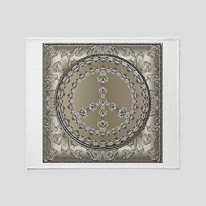 Elegant Peace Silver Throw Blanket