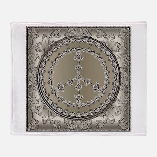 Elegant Peace Silver Throw Blanket