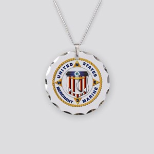 Emblem - US Merchant Marine - USMM Necklace Circle