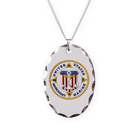 Emblem - US Merchant Marine - USMM Necklace Oval C