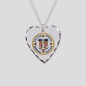 Emblem - US Merchant Marine - USMM Necklace Heart
