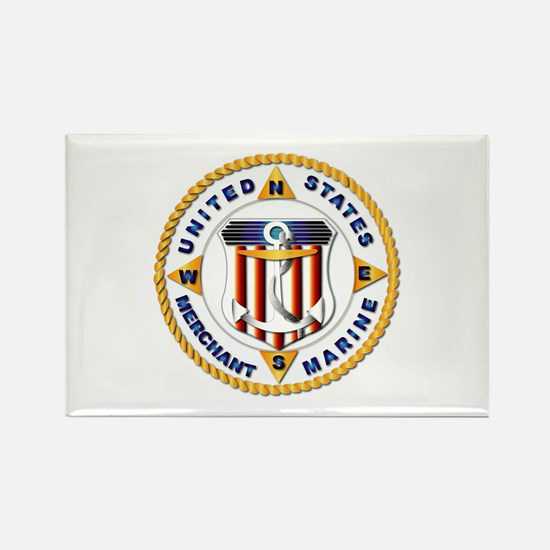 Emblem - US Merchant Marine - USMM Rectangle Magne