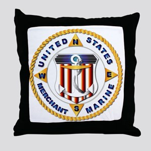 Emblem - US Merchant Marine - USMM Throw Pillow