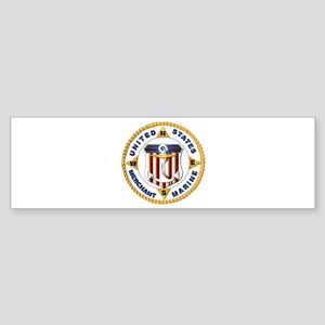 Emblem - US Merchant Marine - USMM Sticker (Bumper