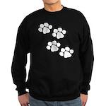 Pet Paw Prints Sweatshirt (dark)