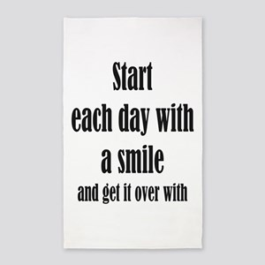 Start Each Day with a Smile Fun Quote T-Shirt Area