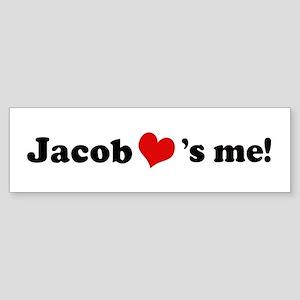 Jacob loves me Bumper Sticker