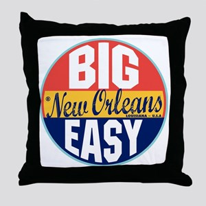 New Orleans Vintage Label Throw Pillow
