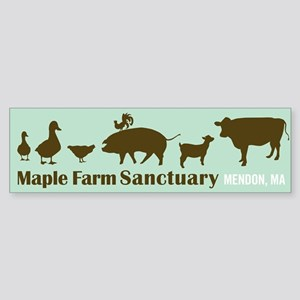 Animal Friends Bumper Sticker