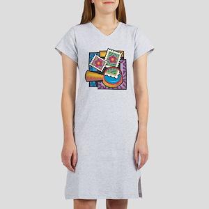 Stamp Collector Women's Nightshirt