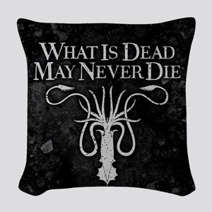 GOT What Is Dead May Never Die Woven Throw Pillow