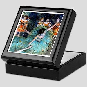 Degas - Green Dancer 1879 Keepsake Box