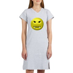 Vampire Smiley Face Women's Nightshirt