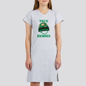 True Heros - the Marines Women's Nightshirt