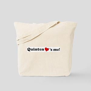Quinten loves me Tote Bag