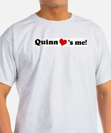 Quinn loves me Ash Grey T-Shirt