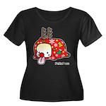 PeRoPuuu5 Women's Plus Size Scoop Neck Dark T-Shir