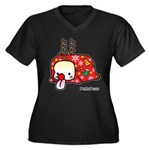 PeRoPuuu5 Women's Plus Size V-Neck Dark T-Shirt