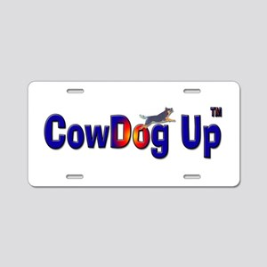 """CowDog Up"" TM Aluminum License Plate"