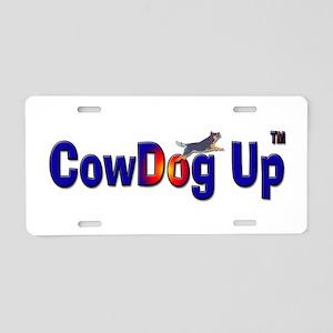 """""""CowDog Up"""" TM Aluminum License Plate"""