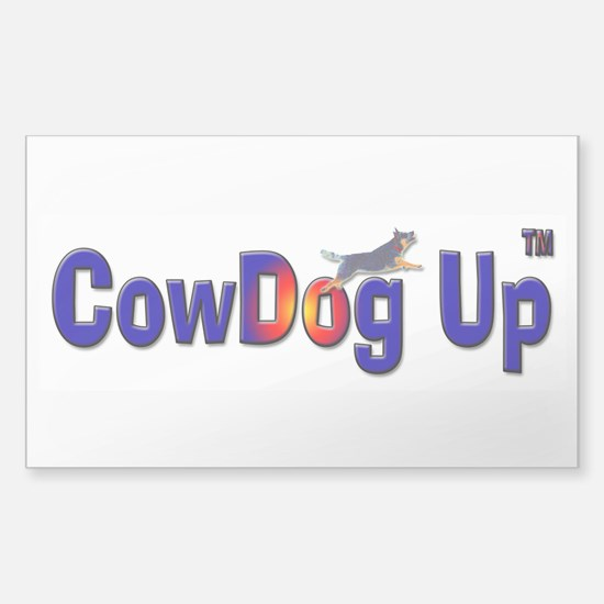 """CowDog Up"" TM Sticker (Rectangle)"