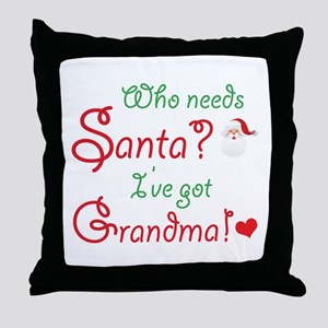 Who needs Santa? Throw Pillow