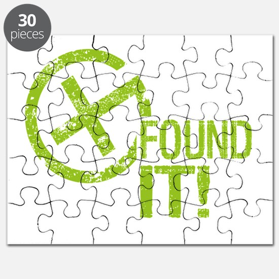 Geocaching FOUND IT green Puzzle