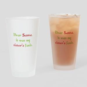Dear Santa Drinking Glass