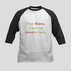Dear Santa Kids Baseball Jersey
