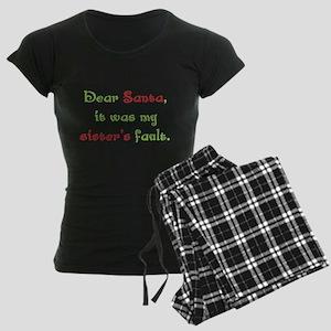 Dear Santa Women's Dark Pajamas