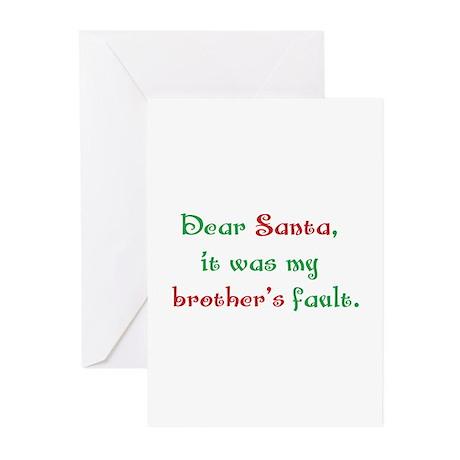Dear Santa Greeting Cards (Pk of 20)