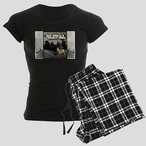 NY is a Friendly Town Women's Dark Pajamas
