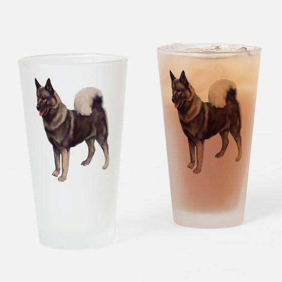 Norwegian elkhound Portrait Drinking Glass