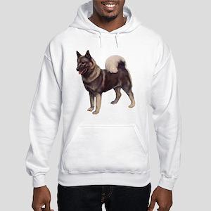 Norwegian elkhound Portrait Hooded Sweatshirt