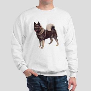 Norwegian elkhound Portrait Sweatshirt