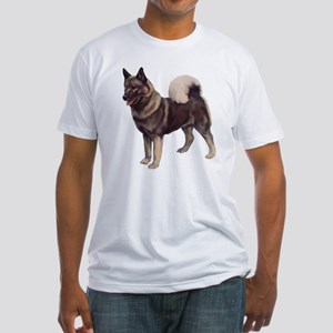 Norwegian elkhound Portrait Fitted T-Shirt