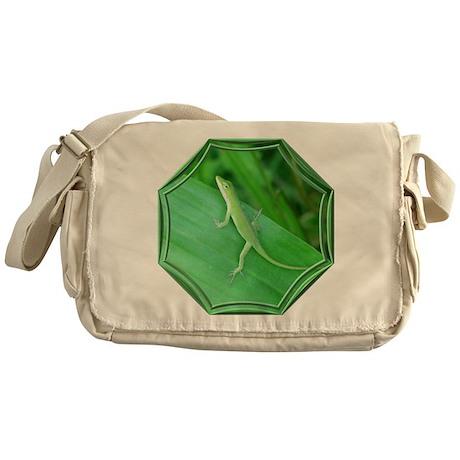 Green Lizard Messenger Bag