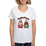 PeRoPuuu10 Women's V-Neck T-Shirt
