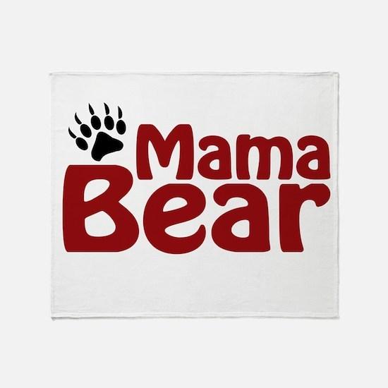 Mama Bear Claw Throw Blanket